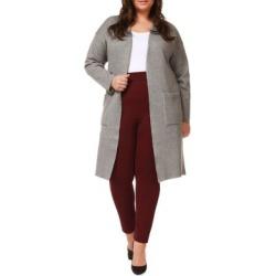 Open-Front Cotton-Blend Cardigan