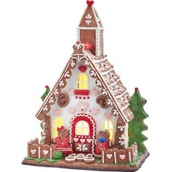 Kurt Adler LED Gingerbread Cookie House Decor found on Bargain Bro India from Saks Fifth Avenue for $125.00