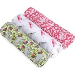 Baby's Set of Three Classic Paradise Cotton Swaddles found on Bargain Bro India from Saks Fifth Avenue for $38.00