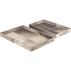 Primrose Valley Set Of 2 Leather Trays