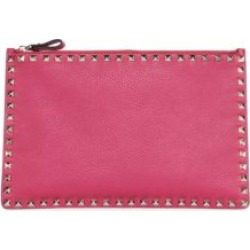 Valentino Garavani Rockstud Large Flat Leather Pouch found on Bargain Bro from Saks Fifth Avenue UK for £586