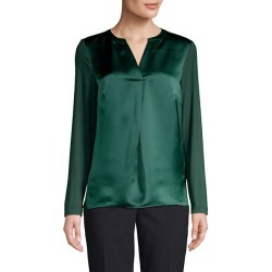 Long Sleeves Split Neck Top found on Bargain Bro Philippines from Saks Fifth Avenue OFF 5TH for $39.99