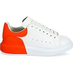 Alexander McQueen Men's Neon Back Platform Sneakers - White - Size 44 (11) E found on MODAPINS from Saks Fifth Avenue for USD $690.00