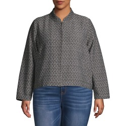 Plus Recycled Fabric Woven Zip Jacket found on Bargain Bro India from Saks Fifth Avenue OFF 5TH for $89.99