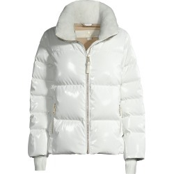Nicole Benisti Women's Kensington Shearling-Lined Puffer Jacket - Ivory - Size XS found on MODAPINS from Saks Fifth Avenue for USD $990.00