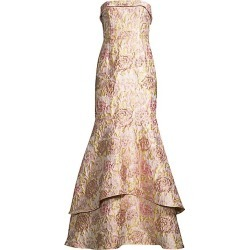 Aidan Mattox Women's Jacquard Strapless Tiered Gown - Blush Multi - Size 0 found on MODAPINS from Saks Fifth Avenue for USD $495.00