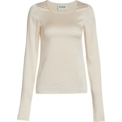 Liya Stretch Silk Long-Sleeve Top found on MODAPINS from Saks Fifth Avenue AU for USD $260.37