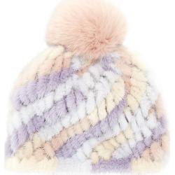 Jocelyn Women's Savage Love Pastel Stripe Mink & Fox Fur Pom-Pom Beanie found on MODAPINS from Saks Fifth Avenue for USD $58.50
