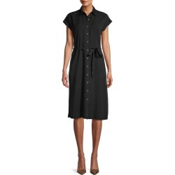 Saks Fifth Avenue Women's Button-Front Shirtdress - Medium Indigo - Size XL found on Bargain Bro from Saks Fifth Avenue OFF 5TH for USD $37.99