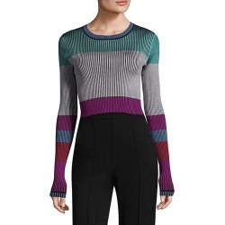 Ribbed Colorblock Pullover