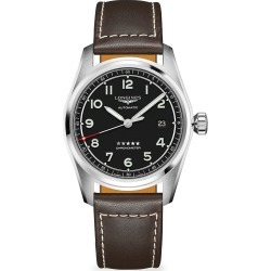 Longines Men's Longines Spirit Stainless Steel & Leather-Strap Watch - Black found on MODAPINS from Saks Fifth Avenue for USD $2150.00