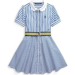 Ralph Lauren Girl's Belted Stripe Cotton Dress - Blue White - Size 8 found on Bargain Bro India from Saks Fifth Avenue for $45.50