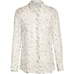 Altuzarra Women's Floral Silk Blouse - Ivory - Size 38 (4) found on MODAPINS from Saks Fifth Avenue for USD $795.00