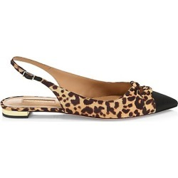 Aquazzura Women's Mondaine Knotted Leopard-Print Slingback Flats - Size 40 (10) found on MODAPINS from Saks Fifth Avenue for USD $292.50