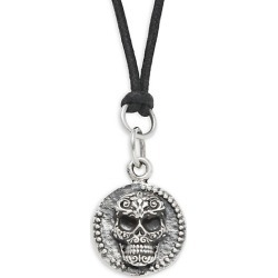 Sterling Silver Baroque Skull Coin Pendant Necklace found on Bargain Bro India from Saks Fifth Avenue OFF 5TH for $234.00