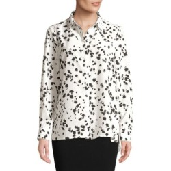 Printed Chiffon Button-Down Shirt found on Bargain Bro India from Lord & Taylor for $14.28