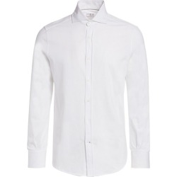 Brunello Cucinelli Men's Basic-Fit Jersey Shirt - White - Size 46 (36) found on MODAPINS from Saks Fifth Avenue for USD $595.00