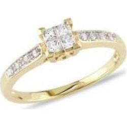 Bague de fiançailles en or jaune 10 ct avec diamants 0,25 ct PT found on Bargain Bro Philippines from La Baie for $999.60