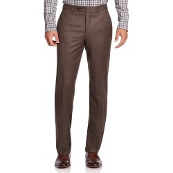 Saks Fifth Avenue Men's COLLECTION Wool Dress Pants - Brown - Size 36 found on Bargain Bro from Saks Fifth Avenue for USD $211.28