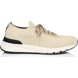 Brunello Cucinelli Men's Knit Colorblock Sneakers - Beige - Size 12 found on MODAPINS from Saks Fifth Avenue for USD $795.00