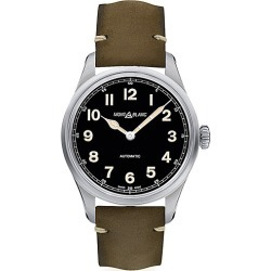 Montblanc Men's 1858 Stainless Steel & Leather Strap Automatic Watch - Green