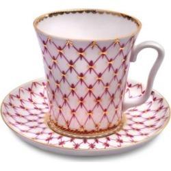 Net-Blues Porcelain Mug & Saucer Two-Piece Set