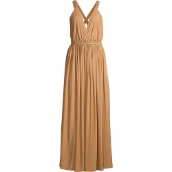 Matteau Women's V-Neck Maxi Dress - Clay - Size 10 found on MODAPINS from Saks Fifth Avenue for USD $133.91