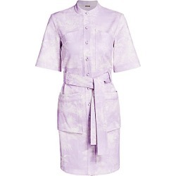 Adam Lippes Women's Palm-Print Belted Stretch-Cotton Shirtdress - Palm Lilac Cream - Size 8 found on MODAPINS from Saks Fifth Avenue for USD $400.50