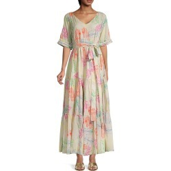All Things Mochi Women's Maliha Print Dress - Greige - Size M found on MODAPINS from Saks Fifth Avenue OFF 5TH for USD $189.99