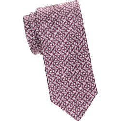 Brioni Men's Geometric Silk Tie - Dark Brown found on MODAPINS from Saks Fifth Avenue for USD $240.00