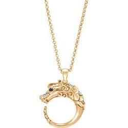 John Hardy Legends Naga Diamond 18K Gold Dragon Pendant Necklace - Yellow Gold