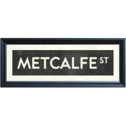Ottawa Street Sign of METCALFE St. Giclee Print found on Bargain Bro from The Bay for USD $45.22