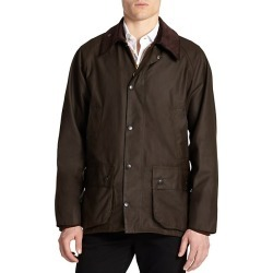 Barbour Men's Corduroy Collar Waxed Jacket - Olive - Size 44 found on MODAPINS from Saks Fifth Avenue for USD $415.00