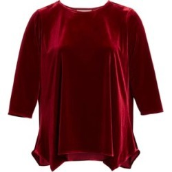 Going Places Stretch Velvet Party Top
