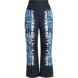 Alberta Ferretti Women's Stripes & Flowers Printed Ankle Pants - Size 4 found on MODAPINS from Saks Fifth Avenue for USD $650.00