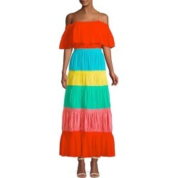 Kia Smocked Rainbow Cold-Shoulder A-Line Dress found on Bargain Bro Philippines from Saks Fifth Avenue OFF 5TH for $279.99