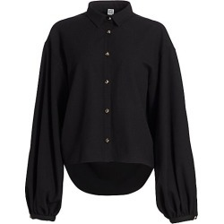 Toteme Women's Novale Puff-Sleeve Shirt - Black - Size XS found on Bargain Bro India from Saks Fifth Avenue for $500.00