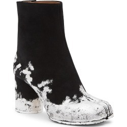 Maison Margiela Women's Tabi Silver Foil Suede Ankle Boots - Black - Size 6.5 found on MODAPINS from Saks Fifth Avenue for USD $1325.00