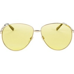 Gucci Women's 61MM Unisex Aviator Sunglasses - Gold found on Bargain Bro India from Saks Fifth Avenue for $420.00