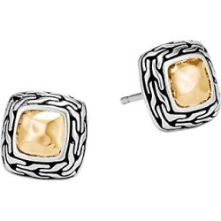 John Hardy Women's Chain Hammered 18K Bonded Yellow Gold & Silver Heritage Stud Earrings found on MODAPINS from Saks Fifth Avenue for USD $350.00
