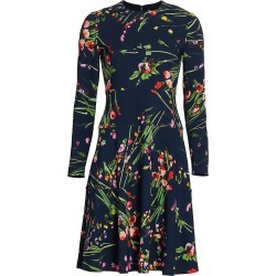 Lela Rose Women's Wildflower Dress - Navy - Size 12 found on MODAPINS from Saks Fifth Avenue for USD $447.00
