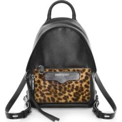 Mini Emma Leopard-Print Calf Hair Leather Backpack