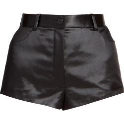 Saint Laurent Women's Satin Mini Shorts - Noir - Size 8 found on Bargain Bro from Saks Fifth Avenue for USD $646.00