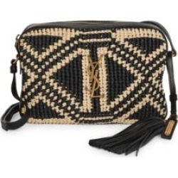 Lou Crochet Raffia Camera Bag