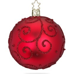 Inge's Christmas Decor Barocco Oxblood Glass Ball Ornament - Red found on Bargain Bro India from Saks Fifth Avenue for $16.00