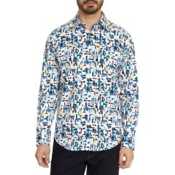 Julius Digital Brush Stretch-Cotton Shirt found on MODAPINS from The Bay for USD $198.00