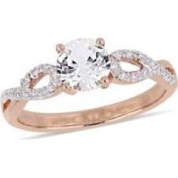 10K Rose Gold, Diamond & Stone Infinity Ring