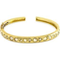 Jenna Blake Women's 18K Yellow Gold & Rose-Cut Diamond Cuff - Yellow Gold - Size Medium found on Bargain Bro Philippines from Saks Fifth Avenue for $11600.00