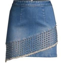 Nicole Studded Denim Fringe Skirt found on Bargain Bro India from Saks Fifth Avenue AU for $292.03