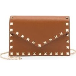 Valentino Garavani Rockstud Leather Wallet-On-Chain found on Bargain Bro from Saks Fifth Avenue UK for £821
